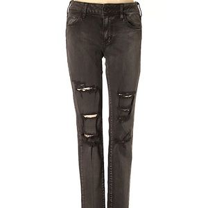 black american eagle ripped jeans size 4